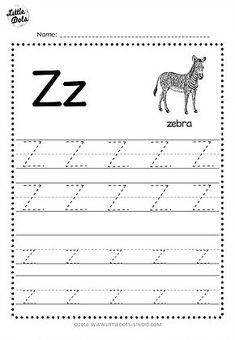 Free Letter Z Tracing Worksheets Letter Worksheets For Preschool, Alphabet Tracing Worksheets, Preschool Writing, Tracing Letters, Preschool Letters, Preschool Printables, Handwriting Worksheets, Alphabet Letters, Abc Tracing