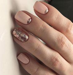 Glittery nail art design