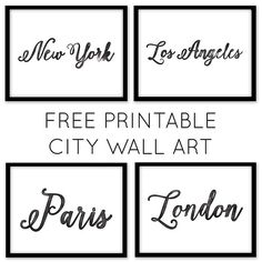 New city watercolor printables can be downloaded now  Chicfetti.com/decorate