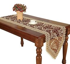 Simhomsen Burgundy Lace Table Runner 16 By 120 Inch Long    You Can Get  Additional