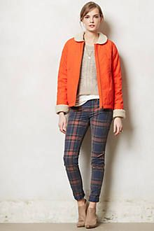 clementine canvas jacket paired with awesome plaid. nice change form blue denim