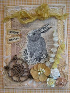 shabby chic Easter card