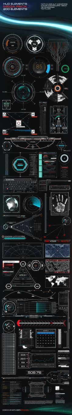 HUD Elements Mega Pack on Behance