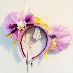 Rapunzel Tangled Inspired Mickey Mouse Headband by InCindysCloset, $38.50