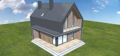 Projekt domu Malutki dr-S 79,48 m2 - koszt budowy - EXTRADOM Gazebo, House Design, Outdoor Structures, Houses, Home, Architecture, Kiosk, Pavilion, Architecture Illustrations