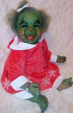 reborn baby girl grinch collectable doll - Baby Grinch Halloween Costume