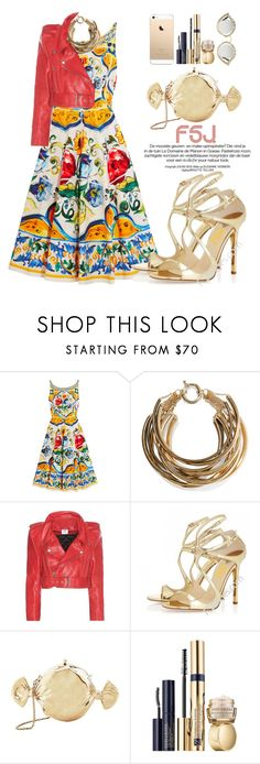 """""""FSJ Shoes"""" by oshint ❤ liked on Polyvore featuring Dolce&Gabbana, Rosantica, Vetements, Judith Leiber, Estée Lauder, Gucci, shoes and fsjshoes"""