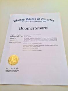 #BoomerSmarts is finally an official trademark... Woohoo! :)
