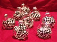 houndstooth ornaments