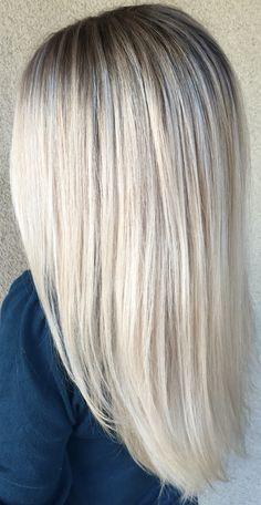 Ash blonde babylights by Genna Khein www.GennaKhein.com