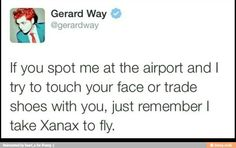 *attempts to find gerard way at an airport* Emo Band Memes, Mcr Memes, Music Memes, Emo Bands, Music Bands, Funny Memes, Hilarious, I Fall Apart, Music Mood