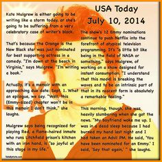 #katemulgrew #oitnb #emmynom #memoir #orangeisthenewblack