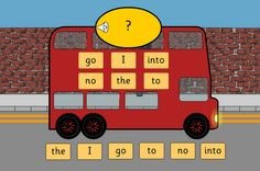 Learning Phonics: Phase 2 Tricky Words Bus. Iboard.co.uk  http://learningphonics.blogspot.com