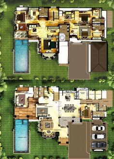 กรานาดา ปิ่นเกล้า-เพชรเกษม G.ALEXANDER 6 Bedroom House Plans, Dream House Plans, House Floor Plans, Dream Home Design, Home Design Plans, My Dream Home, Small Modern House Plans, Modern Floor Plans, Sims House Design