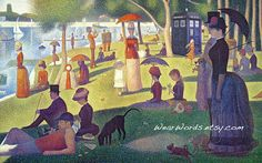 Doctor Who TARDIS Parody Print Georges Seurat A Sunday Afternoon on the Island of La Grande Jatte