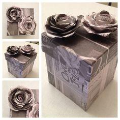 #box #newspaper #newspapercraft #crafts #DIY