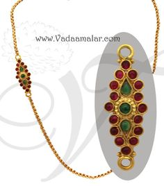 Traditional Indian Side pendant designs  http://www.vadaamalar.com/side-pendant-chain-6157.html