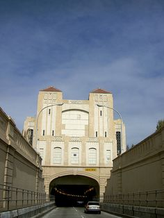 One of the more striking (and obscure) views in the Bay Area: the east portal of Posey Tube, which links Oakland with Alameda.         PICT4959 by dreamyshade, via Flickr