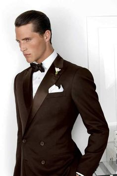 12 Rules That Will Clearly Guide You Through Your Tuxedo Decision Tuxedo Wedding, Wedding Suits, Wedding Tuxedos, Wedding Dresses, Chocolate Brown Wedding, Tuxedo Accessories, Purple Label, Wearing A Tuxedo, Best Wedding Colors
