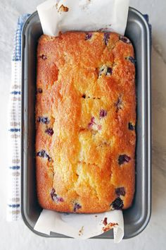Classic Lemon Blueberry Loaf Cake: Wonderfully moist, fluffy, and easy to make; perfect for breakfast or dessert! www.yayforfood.com