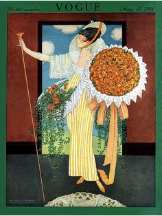Vogue May 1914 cover by George Plank,
