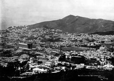 Wellington city in 1899 with mt cook in the centre