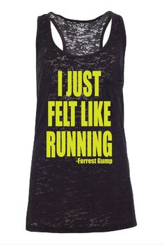 Sale I just Felt Like Running  Forest Gump by GraphicsUnlimitedLLC, $16.00
