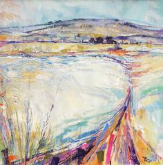Frosty Morning Oil on Board 76 x 76 cm  #Art #Paintings #Landscapes