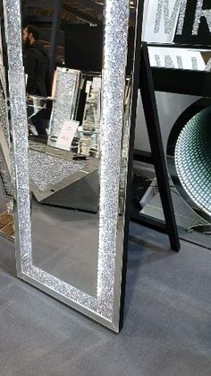 Glam Bedroom Decor, Luxurious Bedrooms, Living Room Decor Apartment, Floor Mirror Decor, Mirrored Bedroom Furniture, Bedroom Decor, Cute Room Decor, Girl Bedroom Decor, Apartment Decor