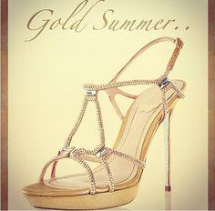 Rene Caovilla Gorgeous Golden Beauties
