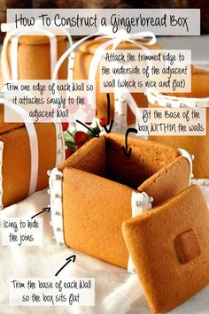 Completely edible Christmas gift - Boxes and Mason Jars made of Gingerbread! Easy - no cutters, no mixer, no special equipment required.