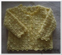 Flower pattern long-sleeved cardigan baby crochet pattern. More Patterns Like This!