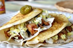 Crispy Chicken Tacos with Jalapeno Slaw http://www.dixiechikcooks.com/crispy-chicken-tacos-with-jalapeno-slaw/