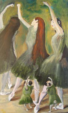 Pug Art Dog Print / Degas Dancers Dress Rehearsal/by by dogwagart, $13.50