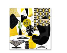 """""""Yellow & Black Living Room"""" by leanne-mcclean ❤ liked on Polyvore featuring interior, interiors, interior design, home, home decor, interior decorating, nuLOOM, SPIRA, aNYthing and Mina Victory"""