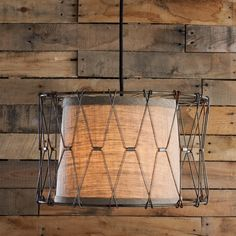 Metal Caged Pendant Light With Shade 2 Colors This Burlap Is Encircled In