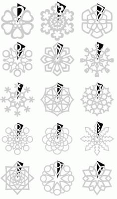 DIY : Paper Snowflakes Templates by Hairstyle Tutorials - Christmas DIY Paper Art, Paper Crafts, Diy Crafts, Paper Toys, Winter Christmas, Christmas Ornaments, Christmas Time, Christmas Snowflakes, Christmas Paper