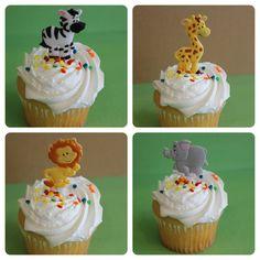 24+Jungle+Safari+Animal+Cupcake+Topper+Picks+by+Catalu+on+Etsy,+$4.50