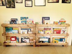 Librero con pallets / Pallets bookshelf