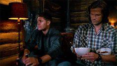Winchester Brothers, Sam Winchester, Season 8, Jared Padalecki, Jensen Ackles, Supernatural, Button Down Shirt, Men Casual, Mens Tops