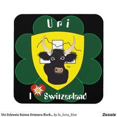 Uri Schweiz Suisse Svizzera Kork-Untersetzer Untersetzer
