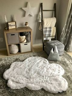 Nursery Cloud Rug! How cute would this be?? Sold on Etsy ClaraLoo