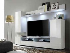 Browse our Trend Team TV Storage Combinations products at Style Our Home. Living Room Shelves, Living Room Tv, Living Spaces, Small Living Room Design, Living Room Designs, Tv Stand With Drawers, Lcd Units, Tv Unit Decor, Modern Tv Units