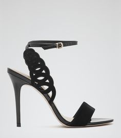 These REISS Lyla Laser Cut Sandals are just stunning and so adaptable - and the laser finish as a real touch of luxe! Fashion Shoes, Fashion Accessories, Moves Like Jagger, Hot Heels, Reiss, Who What Wear, Shoe Collection, Fashion Brand, Trendy Outfits