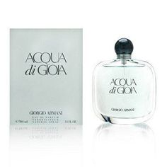 Giorgio Armani Acqua Di Gioia For Women 3.4 Oz Eau De Parfum Edp Spray by Giorgio Armani. Save 27 Off!. $62.00. Packaging for this product may vary from that shown in the image above.. Original and 100% authentic Giorgio Armani Acqua Di Gioia women's fragrance by Giorgio Armani Eau De Parfum Spray 3.4 oz. Acqua Di Gioia by Giorgio Armani for womenAcqua di Gioia is a hymn to nature in all its forms. It is a clean, incredibly fresh, aquatic scent that is ultra-approachable, yet memorable.