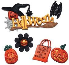 Jesse James Dress It Up Buttons  Trick or Treat Halloween Scrapbook,Sewing 1198