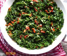 Jarmuż duszony z imbirem i papryką - dieta szybka przemiana - faza I, II, III - Gotuj zdrowo, kolorowo! Seaweed Salad, Ethnic Recipes, Food, Essen, Yemek, Meals