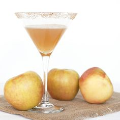 Skip the apple pie and instead enjoy this baked apple martini on Thanksgiving.