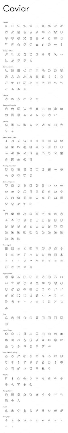 Caviar - Premium Icons by Neway Lau on @creativemarket