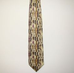 Jhane Barnes Mens 100% Silk Made in Japan Dress Neck Tie Necktie 58in 4in wide #JhaneBarnes #Tie